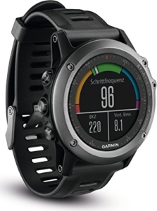 Garmin fenix 3 GPS-Multisportuhr inkl. Herzfrequenz-Brustgurt - diverse Navigations- & Sportfunktionen, GPS/GLONASS
