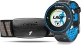Garmin Forerunner 620 GPS-Laufuhr – schwarz/blau – inklusive Herzfrequenz Brustgurt und Geschwindigkeits-/Trittfrequenzsensor