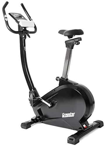 Gregster Heimtrainer Fahrrad Ergometer mit Pulsmesser, Trainingscomputer, Benutzergewicht bis 120 kg perfekt zum indoor cycling geeignet