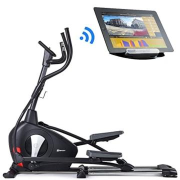 Hop-Sport Elliptical Crosstrainer HS-100C Ellipsentrainer Bluetooth 4.0 Smartphone Steuerung große Schrittlänge