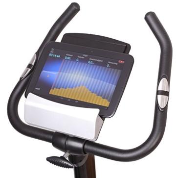 Gregster Heimtrainer Fahrrad Ergometer mit Pulsmesser, Trainingscomputer, Benutzergewicht bis 120 kg perfekt zum indoor cycling geeignet -