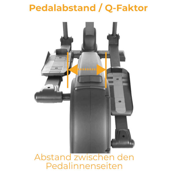 Crosstrainer Pedalabstand-Q-Faktor